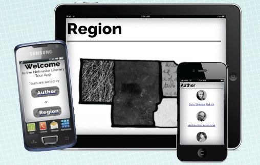 Humanities Nebraska Literary Tour App Devices Picture